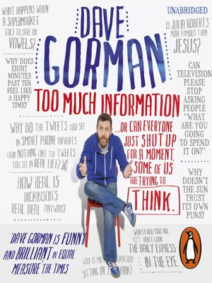 cover image of Too Much Information