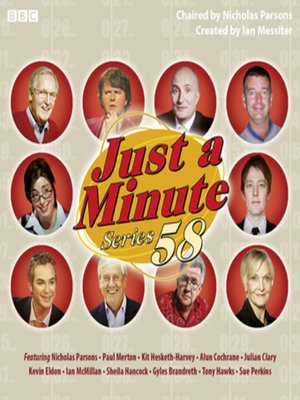 cover image of Just a Minute--Series 58 (Complete)