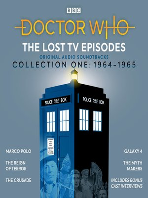 cover image of Doctor Who: The Lost TV Episodes, Collection One 1964-1965