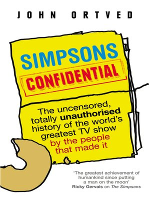 cover image of Simpsons Confidential