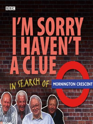 cover image of I'm Sorry I Haven't a Clue--In Search of Mornington Crescent