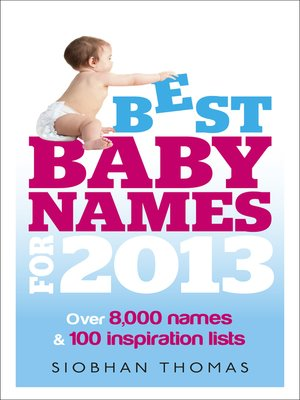 cover image of Best Baby Names for 2013