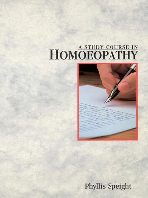 cover image of A Study Course In Homoeopathy