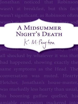 cover image of A Midsummer Night's Death