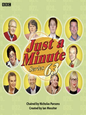 cover image of Just a Minute (Series 63, Complete)