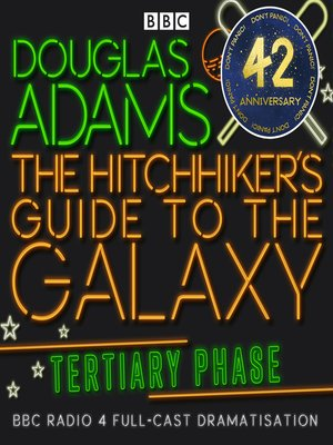 cover image of Hitchhiker's Guide to the Galaxy, the  Tertiary Phase