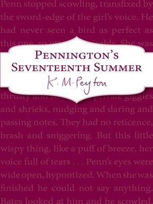 cover image of Pennington's Seventeenth Summer