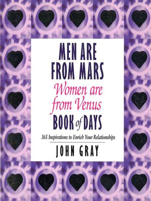 cover image of Men are From Mars, Women are From Venus Book of Days
