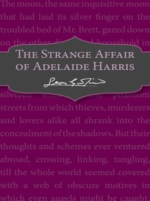 cover image of The Strange Affair of Adelaide Harris