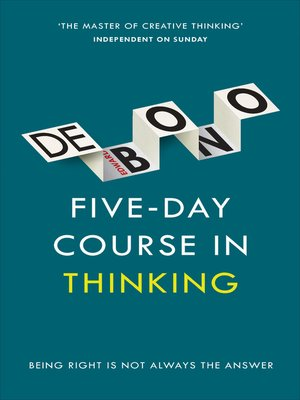cover image of Five-Day Course in Thinking