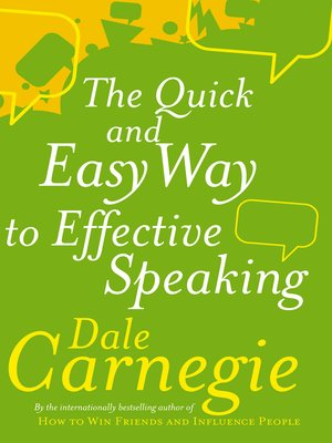 cover image of The Quick and Easy Way to Effective Speaking