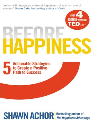 cover image of Before Happiness