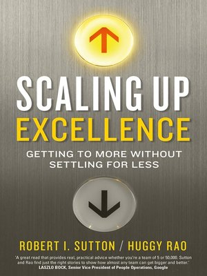 cover image of Scaling Up Excellence