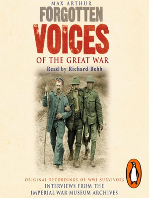 cover image of Forgotten Voices of the Great War