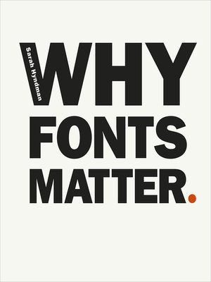 cover image of Why Fonts Matter