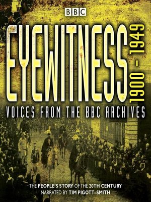 cover image of Eyewitness 1900-1949