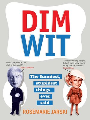 cover image of Dim Wit