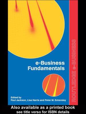 cover image of e-Business Fundamentals