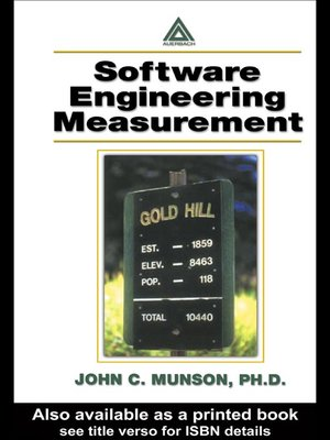 cover image of Software Engineering Measurement