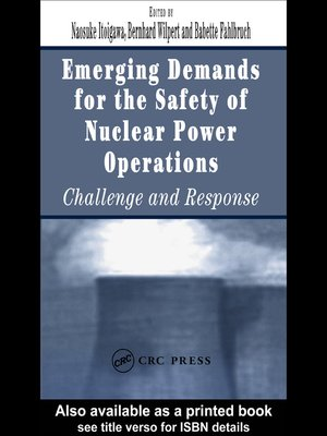 cover image of Emerging Demands for the Safety of Nuclear Power Operations