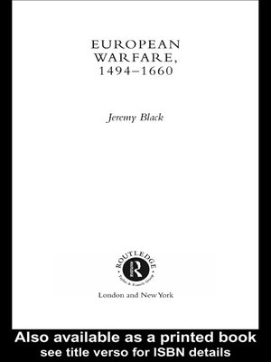 cover image of European Warfare, 1494-1660