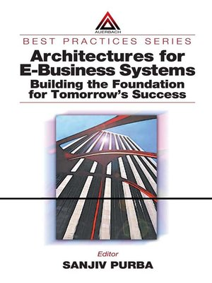cover image of Architectures for E-Business Systems