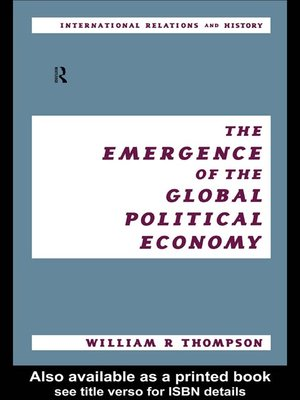 cover image of The Emergence of the Global Political Economy