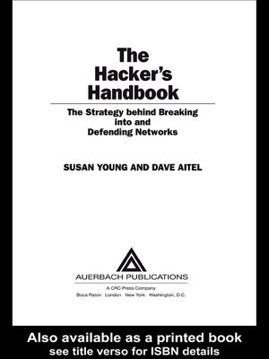 cover image of The Hacker's Handbook