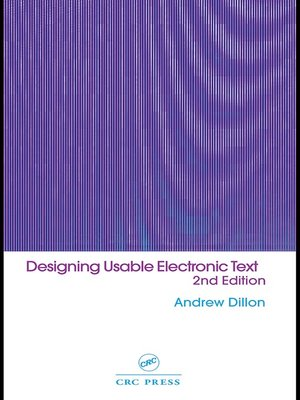 cover image of Designing Usable Electronic Text
