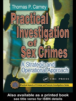cover image of Practical Investigation of Sex Crimes