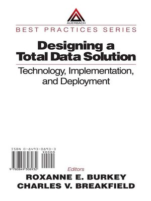 cover image of Designing a Total Data Solution