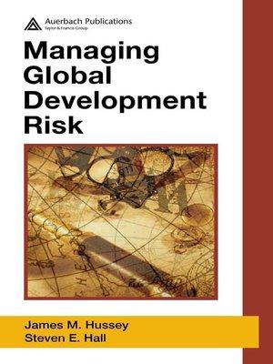 cover image of Managing Global Development Risk