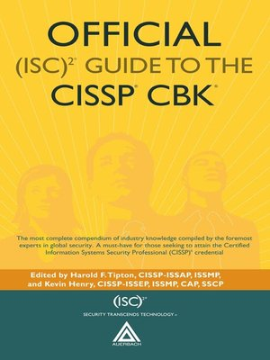 cover image of Official (ISC)2 Guide to the CISSP CBK