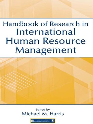 cover image of Handbook of Research in International Human Resource Management