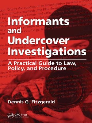 cover image of Informants and Undercover Investigations