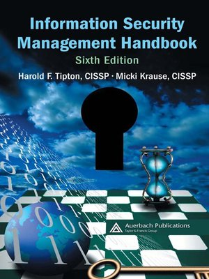 cover image of Information Security Management Handbook