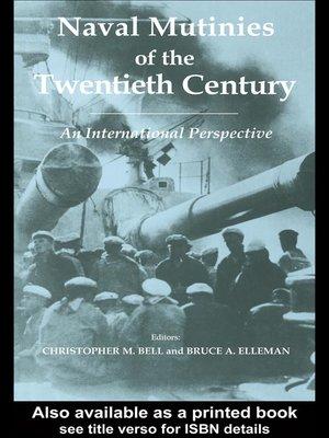 cover image of Naval Mutinies of the Twentieth Century