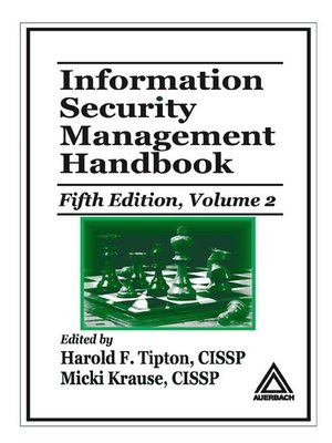 cover image of Information Security Management Handbook, Fifth Edition, Volume 2