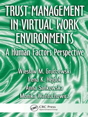 cover image of Trust Management in Virtual Work Environments