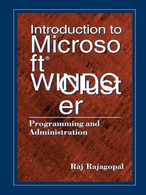 cover image of Introduction to Microsoft Windows NT Cluster Server
