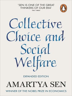 cover image of Collective Choice and Social Welfare