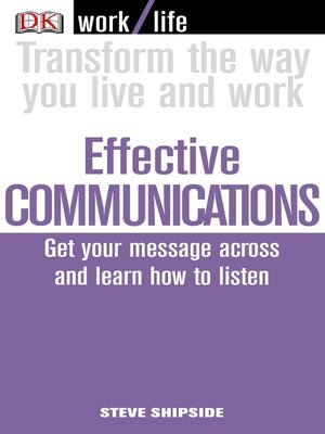 cover image of Work/Life:  Effective Communications