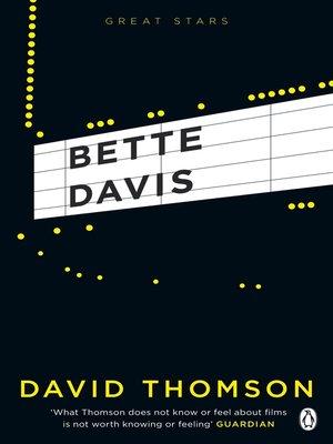 cover image of Bette Davis (Great Stars)