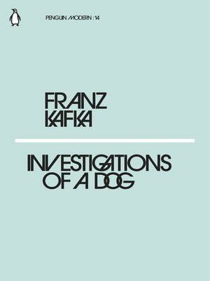cover image of Investigations of a Dog