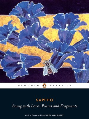 cover image of Stung with Love:  Poems and Fragments of Sappho