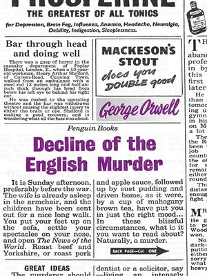 cover image of Decline of the English Murder