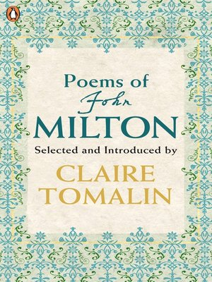 cover image of Poems of John Milton