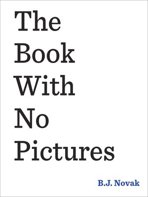 cover image of The Book With No Pictures