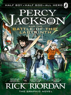 cover image of The Battle of the Labyrinth: The Graphic Novel