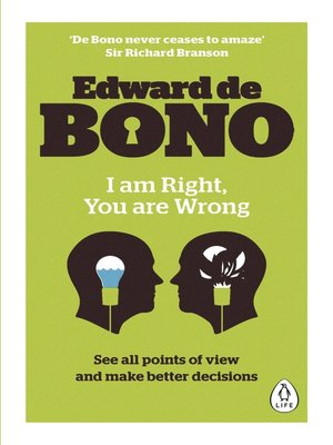 cover image of I Am Right, You Are Wrong